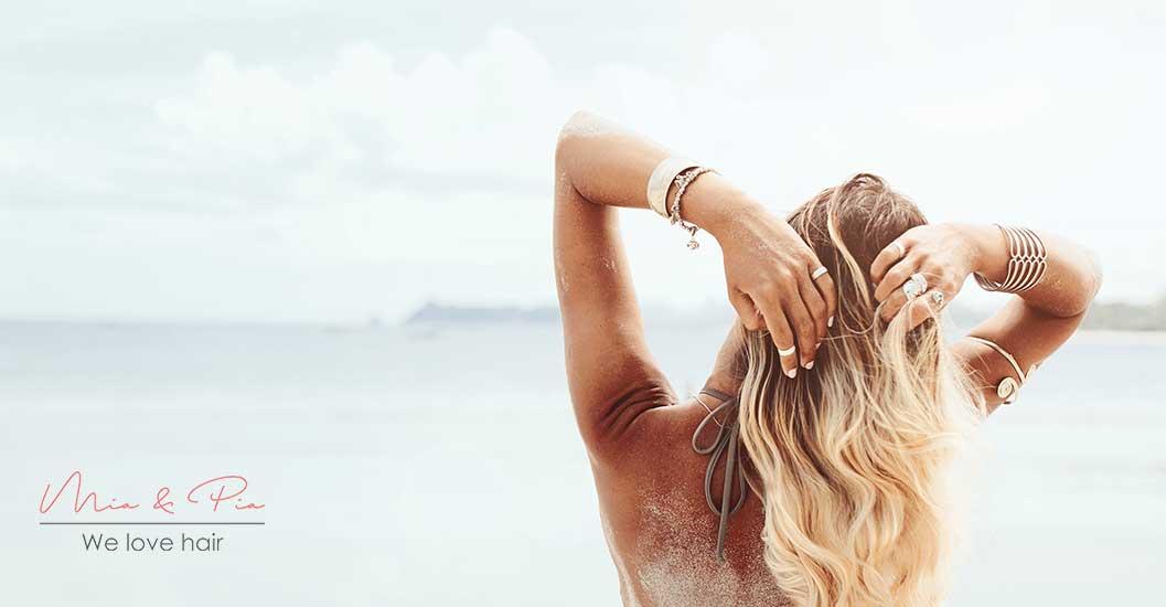 Sonne und Sand bei Hairextensions