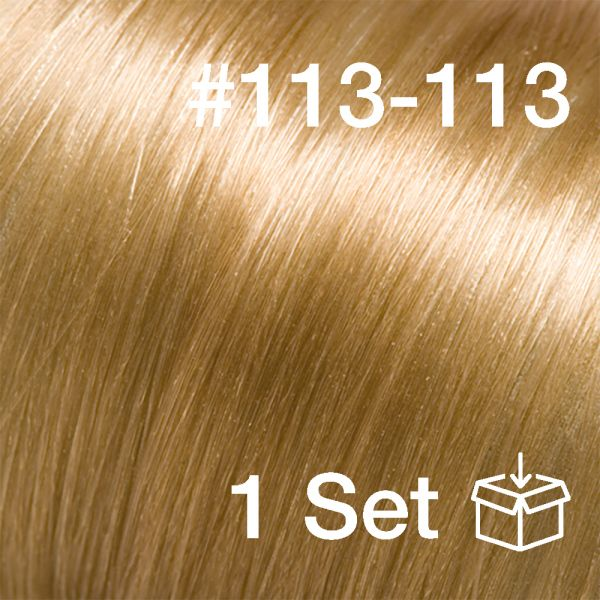 """Clip-In Extensions Set #113-113 """"Sweet Cornflake"""""""
