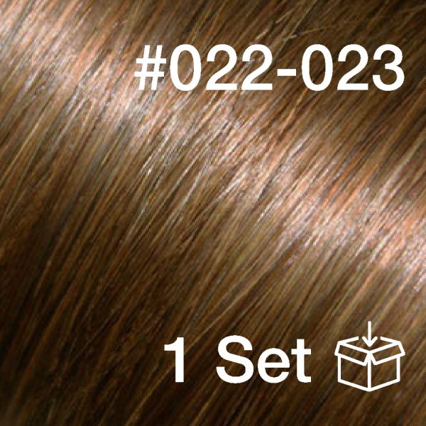 """Clip-In Extensions Set #022-023 """"Summer Truffle / Brown Sugar"""""""