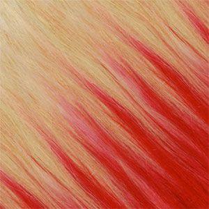Ombre Strähnen – Blond-Platin Gold-Beige /  Rot