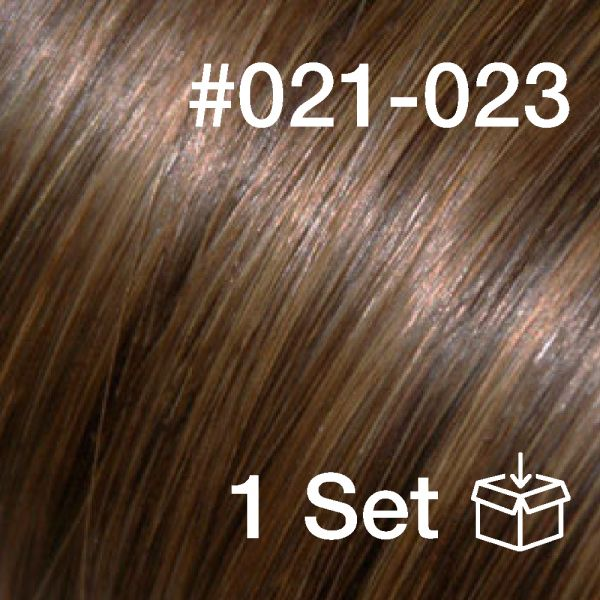 "Clip-In Extensions Set #021-023 ""Choco Jambo / Brown Sugar"""