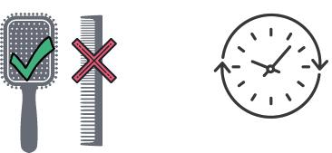 Haarverlaengerung bürsten