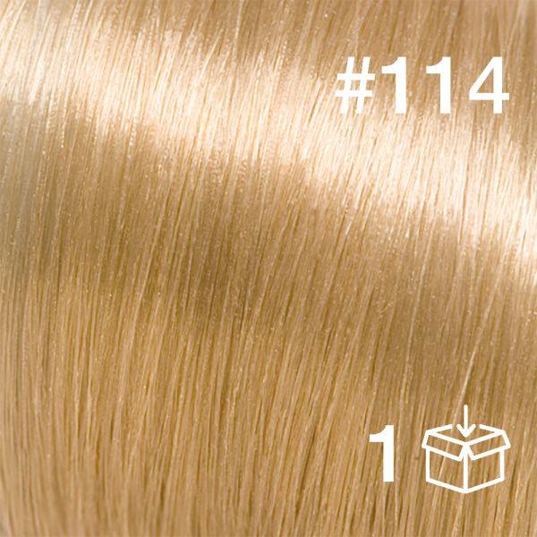 "Probesträhne #114 ""Vanilla Latte"""