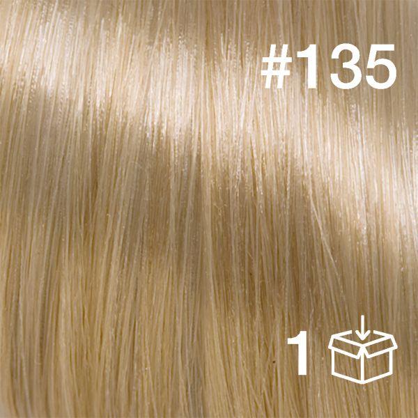 """Probesträhne #135 """"White Peach"""""""