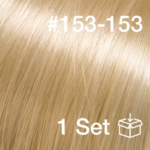 """Clip-In Extensions Set #153-153 """"Sunkissed Ivory"""""""