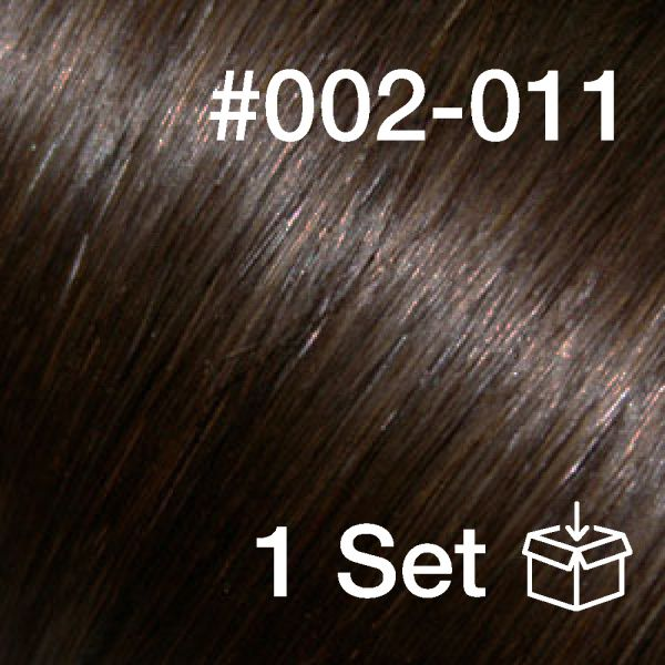 """Clip-In Extensions Set #002-011 """"Midnight Brown / Coffee"""""""
